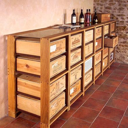 casiers en bois cave. Black Bedroom Furniture Sets. Home Design Ideas